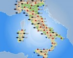 Temperature massime attese sull'Italia per la giornata di giovedì 29 settembre 2016