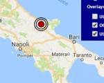 Terremoto oggi Puglia 29 settembre 2016 scossa M 2.3 in provincia di Foggia - Dati Ingv