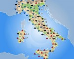 Temperature massime attese per la giornata di domani, sabato 01 ottobre, sull'Italia