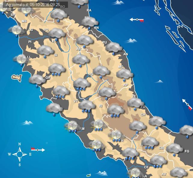 Maltempo, in arrivo temporali e nubifragi: allerta su Toscana, Umbria e Lazio