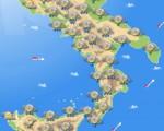 Maltempo sull'Italia in spostamento verso le regioni del Sud con temporali anche intensi su Campania, Puglia, Calabria e Sicilia.