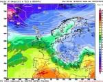 Freddo in arrivo da est ma solo dopo un netto aumento delle temperature al di sopra delle medie