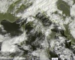 Tempo in atto: piogge e acquazzoni sparsi sull'Italia, localmente intensi. Neve sulle Alpi oltre i 1400 metri.