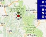 Terremoto oggi Umbria 22 ottobre 2016 scossa M 2.9 in provincia di Perugia - Dati Ingv