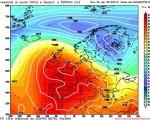 Modello GFS elaborato dal nostro Centro di Calcolo - Pressione al livello del mare e Geopontenziale a 500 hPa alle 00Z del 29 ottobre 2016