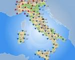 Temperature massime attese sull'Italia per la giornata di giovedì 27 ottobre 2016