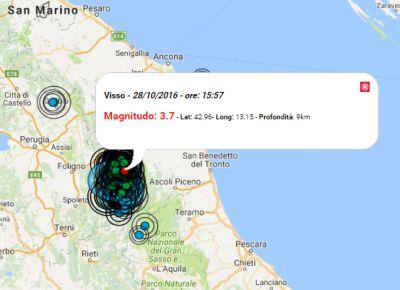 Terremoto tra Marche e Umbria, circa 100 scosse durante la notte