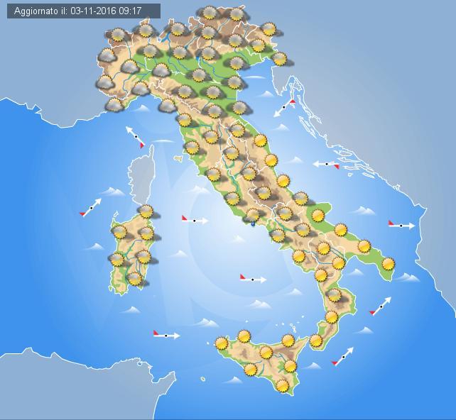 Previsioni meteo Abruzzo martedì 1 Novembre