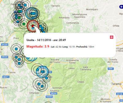 Terremoto oggi marche 14 novembre 2016 scossa m 3 9 for Ingv lista terremoti di oggi