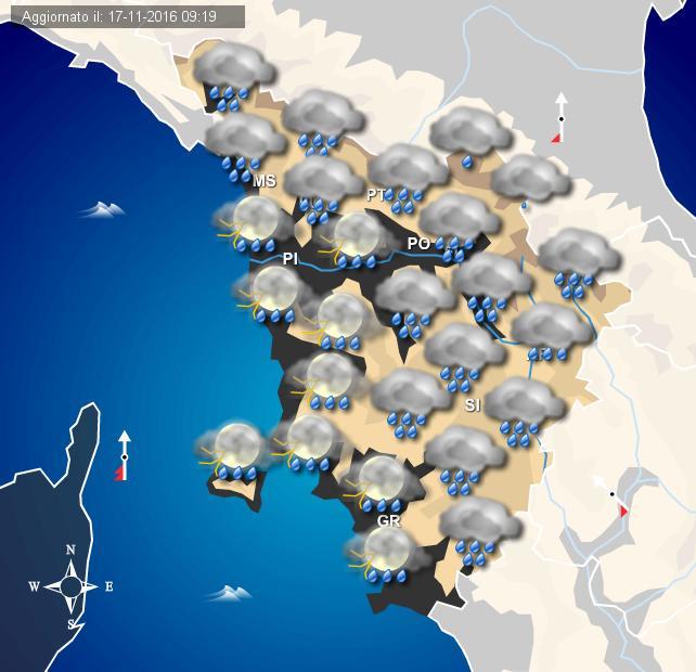 Maltempo, in Liguria allerta gialla prorogata fino a domani