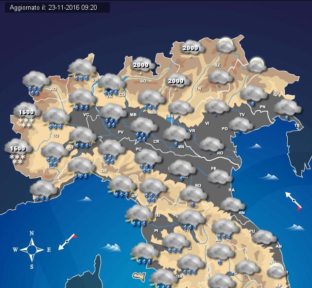 Maltempo: allarme fiumi Piemonte, Tanaro oltre pericolo