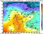 Modello GFS elaborato dal nostro Centro di Calcolo - Pressione al livello del mare e Geopontenziale a 500 hPa alle 12Z del 15 dicembre 2016