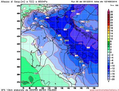 Meteo prossima settimana: inverno alle porte con aria molto fredda per metà dicembre