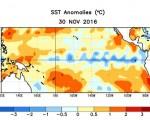 La Niña tra gennaio e marzo 2017 si dovrebbe tornare a condizioni neutrali