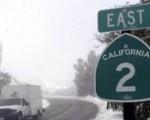 Freddo e temperature minime sottozero in California.