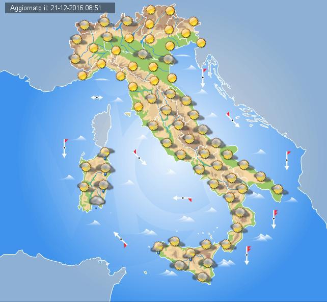 Meteo: pioggia e neve in arrivo sull'Italia