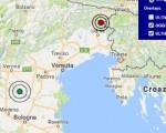 Terremoto oggi Friuli e Veneto 22-12-2016 scosse M 3.0 e 2.8 province Rovigo ed Udine - Dati Ingv ora
