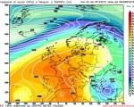 Analisi modelli Gfs00Z, calo termico confermato sulle regioni meridionali. Anticiclone in rinforzo sui settori centrali europei 25 dicembre 2016