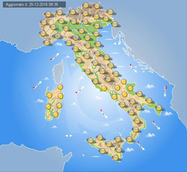 METEO ITALIA. Anticiclone persistente di NATALE. Ecco quanto durerà