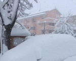 Diretta NEVE  nevicate già oltre i 70 centimetri in Abruzzo, numerosi i disagi