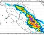 Neve prevista nelle prossime 24 ore sul Centro Italia dal nostro modello WRF