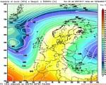 Il ritorno di un campo di alta pressione in Europa e sul Mediterraneo occidentale nella seconda metà della prossima settimana visto da GFS06Z, con la discesa sull'Europa orientale di una nuova irruzione d'aria fredda.