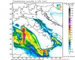 Modello WRF elaborato dal nostro centro di calcolo - Precipitazioni cumulate in 24 ore alle 05Z del 22 gennaio 2017