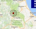 Terremoto oggi Abruzzo 23 gennaio 2017  scossa M 3.0 a Campotosto - Dati Ingv ora
