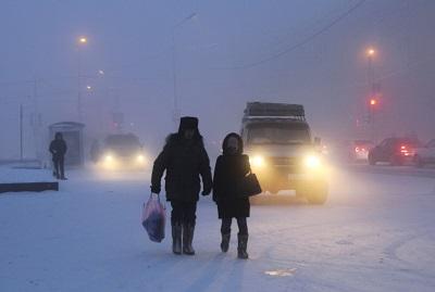 Una giornata di nebbia e ghiaccio a Jakutsk. Fonte: www.meteoweb.eu