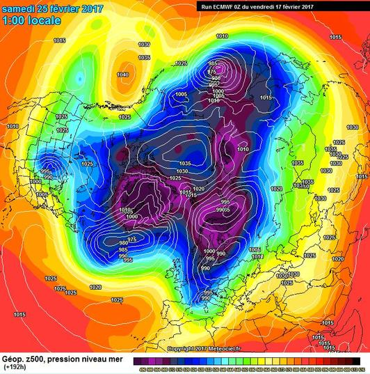 Colpo dell'inverno secondo il modello ECMWF tra la fine di Febbraio e l'inizio di Marzo - meteociel.fr