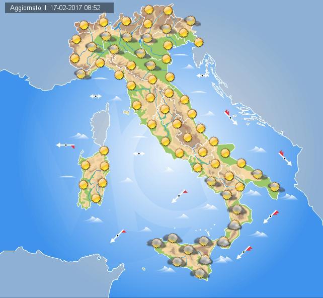 Tempo stabile e prevalentemente soleggiato per Domenica sull'Italia