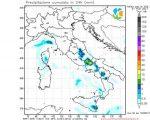 Veloce passaggio instabile sull'ITALIA per l'arrivo di un fronte freddo da nord. Piogge sparse al Centro-Sud con neve in montagna.