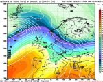 Il modesto e veloce impulso perturbato che nella giornata di Venerdi interesserà il nord ed il centro Italia.