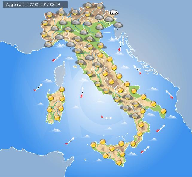 Meteo ITALIA: DOMENICA tra piogge e SOLE. Instabile al SUD
