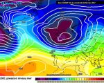 Il passaggio della perturbazione attesa sulle aree del nord Italia martedi 28. Coinvogliata sulla nostra penisola da quel profondo minimo di bassa pressione posizionato sul Regno Unito.