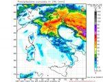 Peggioramento meteo sul Centro Italia con piogge e temporali anche intensi su Toscana, Umbria e Marche.
