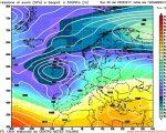 La tendenza a lungo termine proposta da GFS00z per il primo weekend di Marzo, con un ampia circolazione di bassa pressione fra Atlantico ed Europa occidentale ad influenzare il tempo anche sul Mediterraneo.