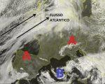 Situazione satellitare in Europa relativa alla giornata odierna, con una rimonta dell'alta pressione su gran parte dell'Europa e sul nord Italia, mentre dell'instabilità interessa ancora attualmente le regioni centro meridionali Italiane, con molte nubi e rovesci sparsi.