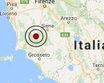Terremoto oggi Toscana 25 febbraio 2017  scossa M 3.0 provincia di Siena - Dati Ingv