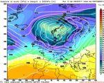 Analisi modelli GFS12Z:  instabile e perturbato al Nord nel medio periodo. Flusso di correnti umide e atlantiche in intensificazione verso le regioni settentrionali 26 febbraio 2017