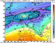 La situazione sinottica prevista per la metà di questa settimana, con il continuo e persistente afflusso di correnti perturbate Atlantiche sul comparto Europeo centrale e settentrionale. A garantire una settimana instabile e a tratti anche perturbata.