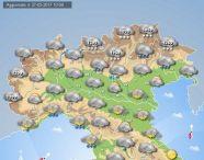 Previsioni Meteo per il pomeriggio di domani, martedì 28 febbraio 2017, al Nord Italia.