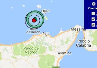 Terremoto oggi Sicilia 27 febbraio 2017 scossa M 4.0 Isole Eolie - Dati Ingv