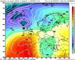 Analisi modelli GFS12Z:  si sta per aprire un periodo perturbato, permane incertezza nel medio-lungo periodo, con anticiclone in avanzamento verso la Penisola iberica 2 marzo  2017