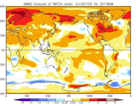 Meteo Primavera 2017: piovosa e fredda nella prima metà, più calda e stabile con prevalenza di anticicloni a seguire - cpc.ncep.noaa.gov