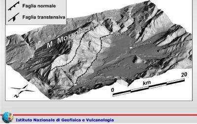 Faglia del Monte Morrone, potenziale sismogenetico fino a magnitudo 6.7 11 marzo 2017 : rischi e pericoli per l'area di Sulmona e della Valle Peligna 11 marzo 2017, fonte: Ingv
