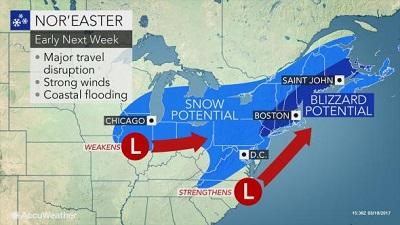Usa: tempesta di neve sulla costa orientale, migliaia di voli cancellati