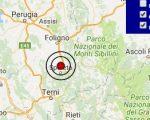 Terremoto oggi Umbria 13 marzo 2017  scossa M 3.0 provincia di Perugia - Dati Ingv