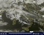 Tempo in atto molte nubi sparse sull'Italia nel primo giorno di primavera