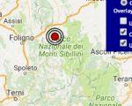 Terremoto oggi Marche 22 marzo 2017, scossa M 2.4 provincia di Macerata - Dati Ingv